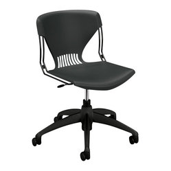Hon - Olson HG21 Shell Task Chair - Boldly go where no one has gone before. This chair takes modern to the final frontier. It features a graphite steel and polymer frame contoured to provide comfort. The height is adjustable and it swivels and rolls into your favorite space.