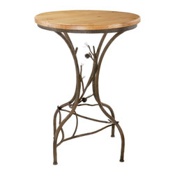 Rustic Pine Bar Table (40in. Tall) by Stone County Ironworks - Dimensions: