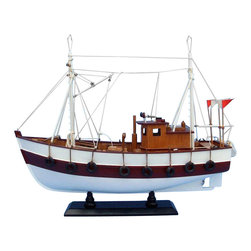 "Handcrafted Model Ships - Cabin Fever 19"" - Wooden Model Fishing Boat - Not a model ship kit"