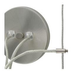 Tech Lighting - Kable Lite Center Power Feed Single-Feed - Center power feed for use with Tech Lighting's Kable Lite system