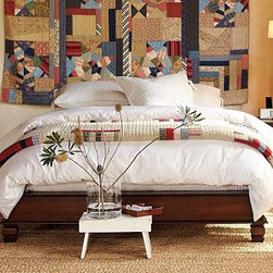 "Cheswick Platform Bed, King/Cal. King, Mahogany stain - The relaxed style and artful craftsmanship of 19th-century Balinese furniture is echoed in this bed, featuring traditional square turnings. Simple platform bed crafted of sustainable kiln-dried hardwood and veneers. Finished by hand in our multistep glazed mahogany finish. Full/Queen Bed: 69.5"" wide x 89"" long x 13"" high King/Cal. King Bed: 86.5"" wide x 93"" long x 13"" high View and compare with other collections at {{link path='pages/popups/bedroom_DOC.html' class='popup' width='720' height='800'}}Bedroom Furniture Facts{{/link}}. Simple assembly. View our {{link path='pages/popups/fb-bedroom.html' class='popup' width='480' height='300'}}Furniture Brochure{{/link}}. Catalog / Internet only."