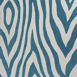 "Kas - Kidding Around Modern Waves Teal 5' x 7'6"" Kas Rug  by RugLots - Bring out the kid in you as you frolic through our Kidding Around Collection. Hand-tufted in India of 100% Wool, these rugs give toddlers and teens a place to relax and play. Fun and colorful themes give these rugs a playful look and feel."