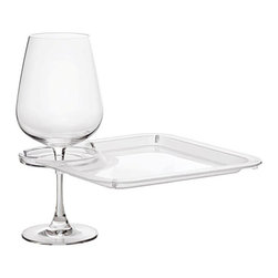 Franmara - Clear Acrylic Square Party Plate with Built-in Stemware Holder - This gorgeous Clear Acrylic Square Party Plate with Built-in Stemware Holder has the finest details and highest quality you will find anywhere! Clear Acrylic Square Party Plate with Built-in Stemware Holder is truly remarkable.