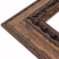 The Frame Guys - Wide Genoa Aged Brown Picture Frame-Solid Wood, 16x20 - *Wide Genoa Aged Brown Picture Frame-Solid Wood, 16x20