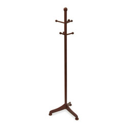 Winsome Wood - Traditional Wood Coat Rack In Antique Walnut - * Antique Walnut finish. Beechwood. 6 pegs. Assembly required. 18.9 in. L x 21.46 in. W x 70.87 in. H. 6 lbs
