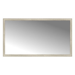 """Posters 2 Prints, LLC - 71"""" x 39"""" Libretto Antique Silver Custom Framed Mirror - 71"""" x 39"""" Custom Framed Mirror made by Posters 2 Prints. Standard glass with unrivaled selection of crafted mirror frames.  Protected with category II safety backing to keep glass fragments together should the mirror be accidentally broken.  Safe arrival guaranteed.  Made in the United States of America"""