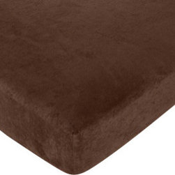 Sweet Jojo Designs - Jungle Time Crib Sheet - Brown Microsuede - Jungle Time fitted crib sheets will help complete the look of your Sweet Jojo Designs nursery. This brown microsuede sheet fits all standard crib and toddler mattresses and is machine washable for easy care. The Crib/Toddler Sheet Dimensions are 52 in x 28 in x 8 in.