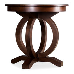 Hooker Furniture - Kinsey Round End Table - White glove, in-home delivery included!  The Kinsey Round End Table has alluring accents that showcase your style.