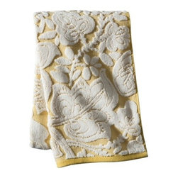 Threshold Floral Bath Towel, Yellow - I am loving the floral pattern and subtle yellow color of these bath towels. Who said that towels can't be functional and pretty?