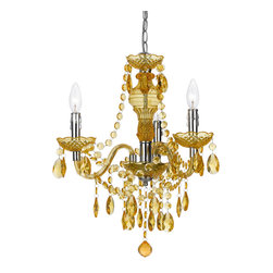 angelo:HOME - angelo:HOME Fulton Traditional Mini Chandelier X-H3-1058 - Our fashion color mini is a great way to bring a pop of color to any decor. Crafted in plastic dripping with teardrops & beads making this a fun item to add color and style to any room. Swag kit included but can be hard-wired if needed. Simple assembly required. Each is hand-crafted, no two are alike. Poly fabric clip on shades (8527-4S) in white sold separately.
