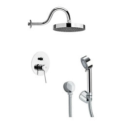 Remer - Round Sleek Shower Faucet Set with Hand Shower - Multi function shower faucet.