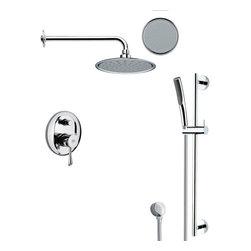 Remer - Round Sleek Rain Shower Faucet Set - Single function shower faucet.