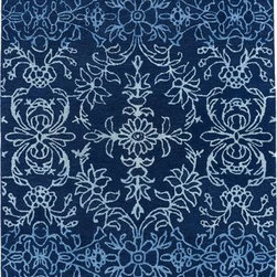 "Kaleen - Kaleen Divine DIV01 3'6"" x 5'6"" Blue Rug - This Hand Tufted area rug would make a great addition to any room in the house. The plush feel and durability of this area rug will make it a must for your home."