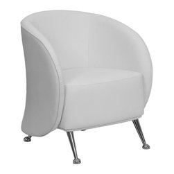 Flash Furniture - Flash Furniture Accent Chair X-GG-HW-558-TEJ-BZ - The uniquely designed Jet Chair features a design equipped to adapt in any office space. This chair features an enveloping wrap around frame with protruding legs that is sure to impress. [ZB-JET-855-WH-GG]