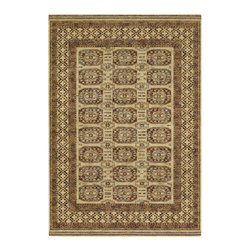 """Couristan - Timeless Treasures Afghan Panel Rug 4708/0066 - 4'6"""" x 6'6"""" - Because these area rugs contain such exquisite detail, other patterns showcased in your room-setting should be represented on a smaller scale. Choose a secondary color found in your area rug and complement it with your wall paint or use pillows and fabrics that are similar. Layering colors and textures makes your interior decor feel cohesive and well thought out."""