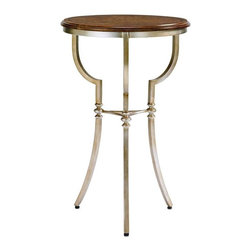 Stanley Furniture - Fairfax-Martini Table - This simple round Martini table is delicate, airy and petite.