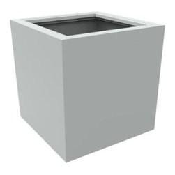 """Decorpro - Decorpro D12003-5E-6 Athens Planter - Light Grey - Decorpro D12003-5E-6 Athens Planter - Light Grey. The Athens planter is versatile in that it can be used in a variety of settings. From modern houses to traditional spaces, the simple shape of this planter ensures that it will always look good. Made from a non-toxic food grade polymer based fiberglass resin, these contemporary planters will never rot, mildew, split, cup or warp. This material offers an unparalleled combination of uniformity, durability and beauty. These modern outdoor planters are available in our standard colours or you have the option of selecting a custom colour. Decorpro planters meet all your performance and durability requirements. Whether exposed to salt water the rough and tumble of everyday wear and tear of home or commercial use, our gel coats maintain a beautiful finish no matter how tough the conditions get. Specifications: Product Dimensions (IN): L 29.75"""" X W 29.75 """" X H 30 """". Product Weight (LB): 50. Product Dimensions (CM): L 75.57 X W 75.57 X H 76.2. Product Weight (KG): 22.68. Colour: Light Grey."""