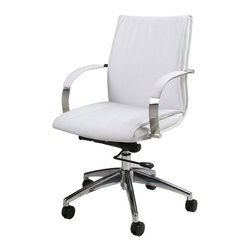 Pastel - Office Chair in Ivory - The Josephina office chair has a retro and modern flair that will brighten any room. The Josephina chair works in any and every office space.