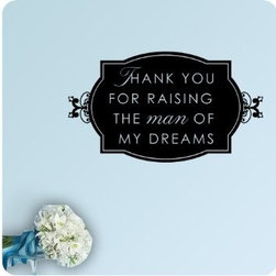 ColorfulHall Co., LTD - Vinyl Wall Quotes The Man of My Dreams - Vinyl Wall Quotes The Man of My Dreams