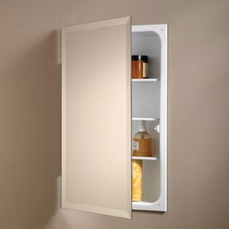 Broan-Nutone Perfect Square 16W x 26H in. Recessed Medicine Cabinet 807P24WH - When you can't have your cabinet's door swinging wide open, the Broan-Nutone Perfect Square Recessed Medicine Cabinet - 16W x 26H in.'s 90-degree stop hinge is a perfect solution. The reversible hinges mean this model could open either way, giving you a great-looking glass medicine cabinet even in what you previously thought was a tough spot to fill.About Broan-NuToneBroan-NuTone has been leading the industry since 1932 in producing innovative ventilation products and built-in convenience products, all backed by superior customer service. Today, they're headquartered in Hartford, Wisconsin, employing more than 3200 people in eight countries. They've become North America's largest producer of medicine cabinets, ironing centers, door chimes, and they're the industry leader for range hoods, bath and ventilation fans, and heater/fan/light combination units. They are proud that more than 80 percent of their products sold in the United States are designed and manufactured in the U.S., with U.S. and imported parts. Broan-NuTone is dedicated to providing revolutionary products to improve the indoor environment of your home, in ways that also help preserve the outdoor environment.