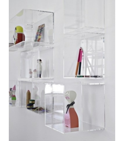 modern wall shelves by La Fabrika