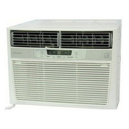 Frigidaire A/C - :data->catalogbatch.catalog.item.description - Frigidaire's FRA126CT1 12,000 BTU 115V Window-Mounted Compact Air Conditioner is perfect for rooms up to 640 square feet. It quickly cools the room on hot days and quiet operation keeps you cool without keeping you awake. Low power start-up and operation conserves energy and saves you money. Ready-Select electronic controls allow you to set the comfort level to your preference, while a convenient temperature-readout displays the set temperature. Effortless temperature sensing remote control allows you to see, set and maintain room temperature from across the room. The multi-speed fan features three different fan speeds for more cooling flexibility and the 8-way comfort control design allows you to easily control the direction of the cool air, wherever the unit is mounted. Plus, the clean air ionizer removes pollen and impurities from the air providing relief for allergy sufferers.