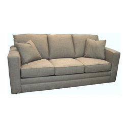 Custom Express - Simon Queen Sleeper Sofa - The winner in the home stretch? It's this super cushy sleeper that offers long, classic lines so you can stretch out fully for a nap or TV watching. Of course, it also folds out easily to offer roomy overnight sleeping accommodations should you need it.