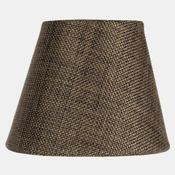 3x5x4 Chocolate Burlap Pleated Clip-on Candlelabra Lampshade - Home Concept Signature Shades feature the finest premium fabric.