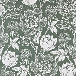 Farrow & Ball Peony BP 2316 Wallpaper - A bold floral wallpaper, like this Peony pattern from Farrow & Ball, will add a touch of tradition to your home. Try it in a dining room with a painted chair rail or covering all the walls in a small powder room.