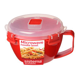 Sistema Klip It Microwave Noodle Bowl - The Sistema Microwave Noodle Bowl is ideal for 2 minute noodles for kids after school  or quick snack any time. Also suitable for reheating pasta's stews or soups. Product Features                      Capacity _�� 940ml  31.7 oz  3.97 cups          Microwave safe with top vent open          Dishwasher safe - top rack          Freezer safe