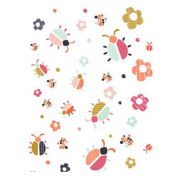 the lovely wall co - Whimsy Lady Bug - Wall Decal- Removable Wall Decal - Self Adhesive Vinyl - Whimsy Lady Bug