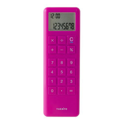 IDEA International - Mobile Calculator - Pink - This calculator can operate with single hand or even just a thumb like text SMS. Light and slim size is fitting very well and do not pick the place to use; while on shopping, calling or business. Thanks to shiny colorful body colors and enclosed strap, you can put this calculator like an accessory.