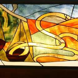 Stained glass art - We specialize in stained glass artworks, in any size, pattern, color and picture.