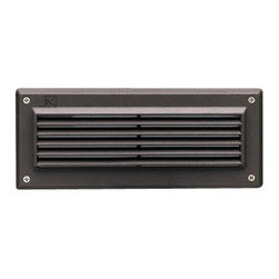 Kichler - Kichler 15073AZT Louvered Brick Light Low Voltage Deck / Rail Lights - Deck - Designed to be integrated into brick walls during construction. Casts a low, even spread of light. Available with or without Louvers. (With louvers mode: Kichler 15074)