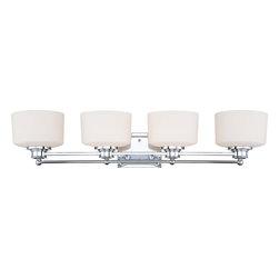 Nuvo Lighting - Nuvo Lighting 60-4584 Soho 4-Light Vanity Fixture with Satin White Glass - Nuvo Lighting 60-4584 Soho 4-Light Vanity Fixture with Satin White Glass
