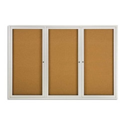 Quartet Aluminum Enclosed Cork Bulletin Board for Indoor Use - 72 x 48 in. - About QuartetQuartet knows that you just have to write it down or you'll forget. They've been in the whiteboard, bulletin board, and chalkboard business since 1945 and have perfected the art of the perfect surface. Today, they boast a full line of visual communication products used at home, in the office, in hospitals, and in schools across the country. When you're looking for a product to help you communicate, you're looking for Quartet.