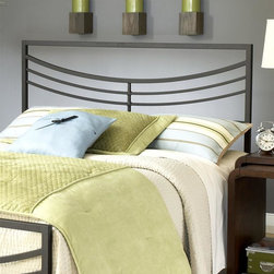 Hillsdale - Kingston Headboard in Brown Finish (Full/Quee - Choose Size: Full/QueenFor residential use. Premium full/queen 5-leg with large glides. Constructed from a sturdy heavy gauge tubular steel. Some assembly required. Full/queen: 60.75 in. W x 50 in. H. King: 76.75 in. W x 50 in. H. Frame: 71.5 in. L x 78 in. WHillsdale Furniture's contemporary Kingston bed features a perfectly angular silhouette softened by a concave arced design.