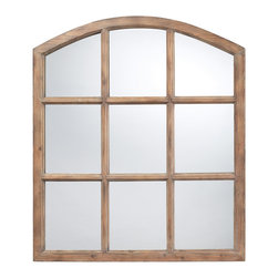 Sterling Industries - Union Wood Mirror In Faux Window Design N A Natural Oak Finish - The Union Wood Mirror In Faux Window Design is a tremendous mirror that is highlighted by the simple wood finish.  A terrific choice for any room, and will brighten the space with it's warm feel.