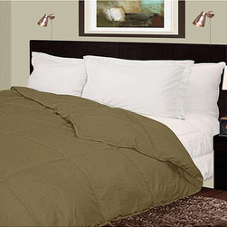 None - Lightweight 230 Thread Count Sage Microfiber Down Comforter - Designed for year-round use,this lightweight microfiber down comforter features end-to-end box stitching that prevents the fill from shifting. Done in neutral sage,this plush comforter features a simple design that will complement any design theme.