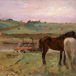 Horses in a Meadow, 1871 | Edgar Degas | Canvas Prints - Condition: Unframed Canvas Print