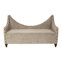 Howard Elliott - Bella Manhattan Bench w/ Bronze Tacks - Lounge in style on our Manhattan Bench. Its sturdy size and construction make it perfect for any sitting room. Accented with Bronze Tacks. Seat height is 20, seat depth is 27.