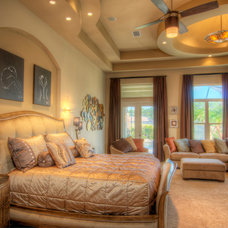 Mediterranean Bedroom by MJS Inc. Custom Home Designs