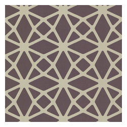 Decorline - Decorline Geometrics Lattice Wallpaper - Create intrigue on your wall with with this gorgeous geometric design. This ultraluxe nonwoven wallpaper comes in a royal purple suede, with soft, polished brass latticework.