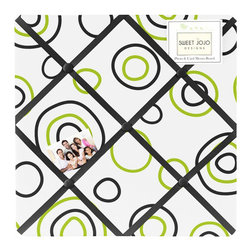 Sweet Jojo Designs - Spirodot Lime and Black Fabric Memo Board by Sweet Jojo Designs - The Spirodot Lime and Black Fabric Memo Board by Sweet Jojo Designs, along with the  bedding accessories.