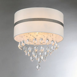 Warehouse of Tiffany - Paul Crystal Chandelier - Add some elegance to your home with this chrome-finished Paul crystal chandelier. This dynamic lighting element features generous rows of cascading crystals to catch the light.