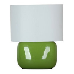 Solid Shade Ceramic Lamp, Intense Jade