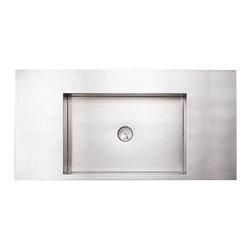 Whitehaus - Whitehaus Whncmb003 Noah's Bath Sink - Noah's Collection above mount rectangular stainless steel bath sink