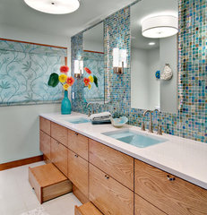 contemporary bathroom Kid's Bathroom Update