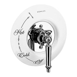 KOHLER - KOHLER K-146-0 Antique Ceramic Dial Plate In White - KOHLER K-146-0 Antique Ceramic Dial Plate In WhiteThe perfect finishing touch for traditional decor, this Antique ceramic dial plate brings nostalgic charm to the bath and powder rooms, complementing Antique and IV Georges Brass Rite-Temp faucet trim.KOHLER K-146-0 Antique Ceramic Dial Plate In White, Features:• Kohler plumbing products mean beautiful form as much as reliable function