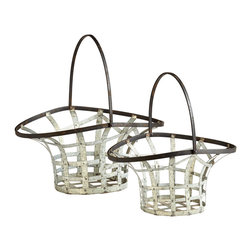 Cyan Design - Cyan Design 06648 Rustic Gray Ellie Baskets - Cyan Design 06648 Rustic Gray Ellie Baskets